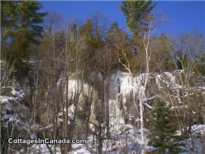 Winter Scenery on Cooper Lake bordering Algonquin Park
