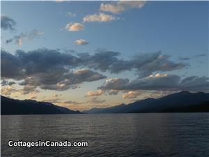 A view from our boat of Kootenay Lake