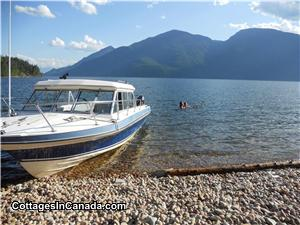 Fun at one of Kootenay lake's remote beaches