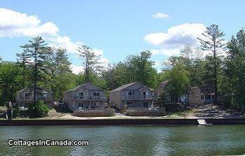 Wasaga River Resort #1 waterfront 1 to 6 bdrm villas, daily weekly weekends > always open!