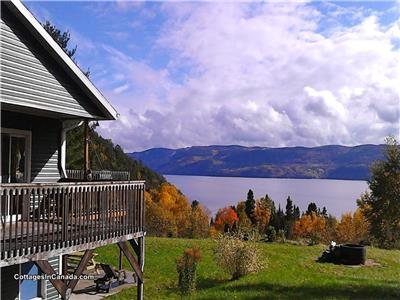 Mountain Cottage - Splendid View Fjord Saguenay