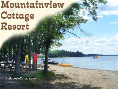 Mountainview Beachfront Cottages On Golden Lake.  Most weeks still available this summer.