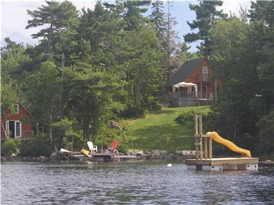 Very private Lake front, new log cottage! 35 min from Halifax. ONE WEEK MINIMUM