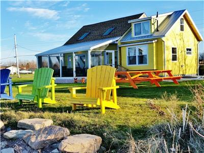 ~ On The Beach ~ Fully Renovated Cottage & New Solar Bunkie: Wake-Up To Ocean Views From Every Bed !