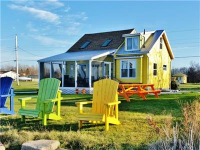 BEACHFRONT 2 LEVEL COTTAGE+BUNKIE: WARM SWIMS, SANDBARS & SUNSETS. ~NEW 7 DAY CXL/FULL REFUND POLICY