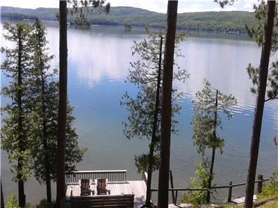 Lake Clear Waterfront Cottage, Year Round Rental, Couples Only, Quiet Retreat Cottage