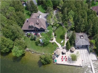 Balsam Lake Estate 299 ft of Waterfront