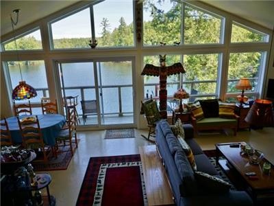 (422) Eels Lake! 2018 dates online! 3 bedroom/2 bath cottage with an amazing view!