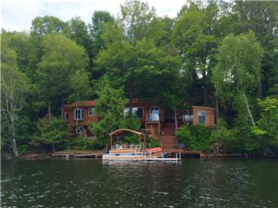 Beautiful, 3- 4 season cottage on Clayton Lake For Sale. By appointment only, starting April 29th.