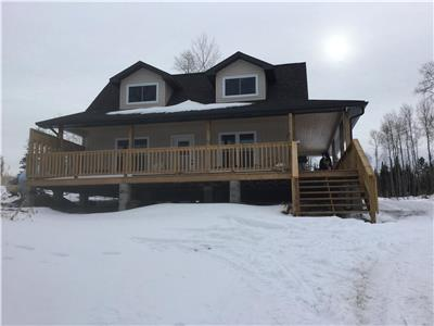 New cottage on Nepewassi lake in St-Charles Ontario.