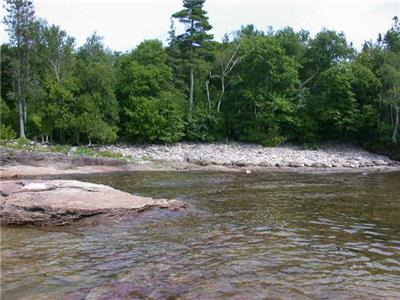 Lake Superior waterfront lot in Pancake Bay, Ontario .  111 feet x 410 feet deep.
