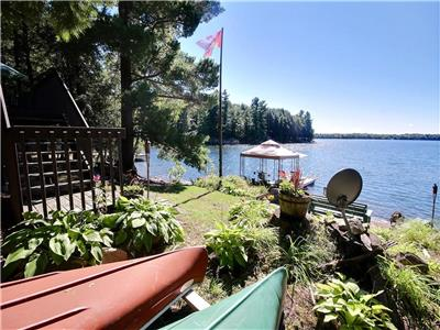 NORTHWOOD - Wonderful pine 4-bedroom cottage with prime SW exposure on Leonard Lake!