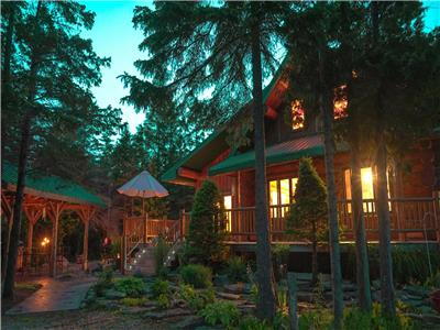 The Morhaven Bruce Peninsula, sauna, hot tub, lake front, outdoor dining, log cabin, feather beds