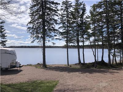 Hidden paradise lake front close to Cap-Pelé aboiteau blue ribbon beach