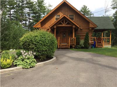 NEW LISTING -Exquisite waterfront log cottage/home - only 1 hr from Ottawa/Gatineau