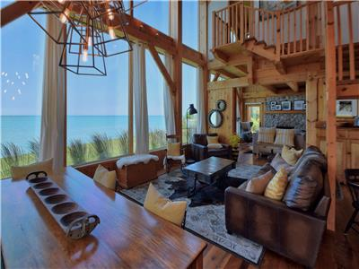 Timber Rest Lakefront Cottage... Exceptional New Lakefront Timber frame!