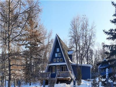 NEWLY RENOVATED: Cozy year round A-Frame with Lake Winnipeg Views